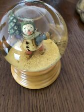 """let It Snow� , House Of Hatten, Singing Glas Snow Man Bowl"