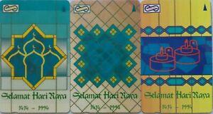 Malaysia Used Uniphone Phone Card : 3 pcs Selamat Hari raya AidilFitri 1414/1994