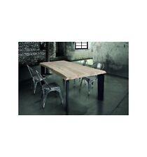 Tavolo massello nodo aperto sp. 4 cm W792/M - Tavolo in legno massello di rovere