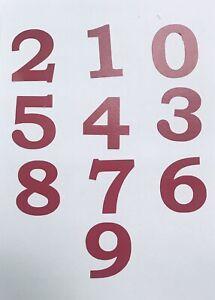 Numbers Vinyl Decal Sticker Decor Indoor Outdoor Garage Bin Door Glass Wall Car