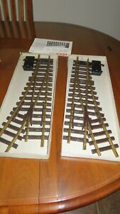 LGB 1615-N (16150) RADIUS R3 22.5 LEFT AND RIGHT HAND ELECTRIC SWITCH G SCALE