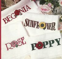 Flowers Fingertip Towel Borders Cross Stitch Pattern Charts from a magazine