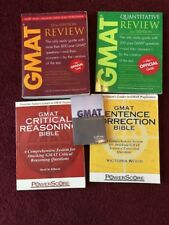 GMAT Review Books and Quantitative and Sentence correction