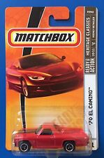 2009 Matchbox RED 1970 CHEVROLET EL CAMINO PICKUP V8 MUSCLE mint on long card!