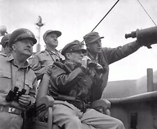 GENERAL DOUGLAS MACARTHUR OBSERVES THE SHELLING OF INCHEON - 8X10 PHOTO (EP-842)
