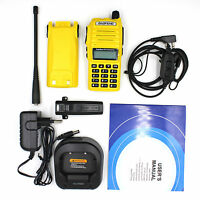 Baofeng UV-82 5W Walkie Talkie Dual Band UV136-174&U400-520MHz FM Radio yellow