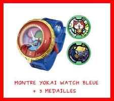 MONTRE DX BLEUE JEU JOUET ENFANT NEUVE FIGURINE YOKAI YO KAI WATCH + 3 MEDAILLES