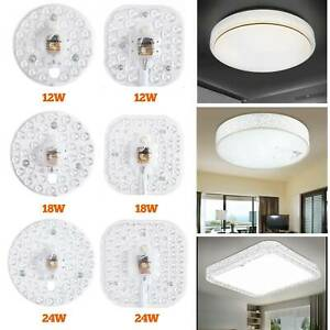 Square / Round plate LED module 12w 18w 24w Replace Ceiling lamp light retrofit