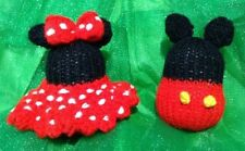 KNITTING PATTERN - Mickey and Minnie Mouse inspired 9cms bauble tree decorations