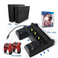 PS4 5V Vertical Stand Dual USB Charger Cooling Supporto Per PS4 Slim PS4 Pro