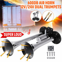300db Dual Trumpet 12-24V Air Horn Super Loud Speaker For Car Truck Train Boat