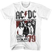 AC/DC cd cvr HIGHWAY TO HELL USA TOUR '79 Official WHITE SHIRT XXL 2X new