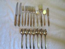 18 Pieces Community Oneida Silverplate 1921 Grosvenor Knife fork spoon No Mono!