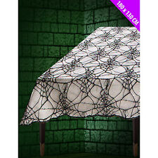 Black Lace Spiderweb Halloween Party Tablecloth Table Cover Decoration