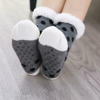 Women Ladies Soft Fluffy Fur Bed Socks Winter Warm Slipper Fleece Lined Sock