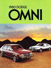 1980 Dodge Omni and 024 12-page Original Canada Car Sales Brochure Catalog