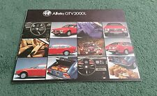 1980 / 1981 ALFA ROMEO ALFETTA GTV 2000 L - UK BROCHURE - NO PUBLICATION CODE