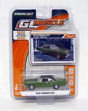 Greenlight 1970 Plymouth GTX GL MUSCLE moulé voiture édition limitée MIP 2015