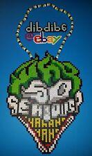 Joker perler art necklace  hama sprite rave edm edc plur kandi why so serious