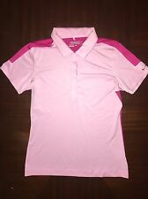 Nike Gold Women's DriFit Polo Pink Magenta Silver Size S