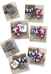 Double Sided Keychain 2020 Tokyo Olympics Mascot  Miraitowa /Someity + Logo
