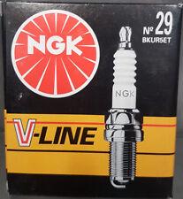 4 x NGK BKUR5ET Zündkerze  V-Line No 29  für VW Golf III,  Mercedes, Seat #