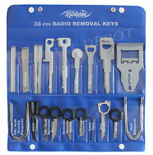 Radio Stereo Removal Keys Set - Porsche, Becker, Opel, Skoda, Grunding - 38 pcs