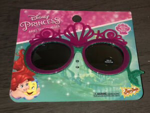 Sun-Staches Princess Ariel Lil' Characters Shell Crown Sunglasses Costume Shades