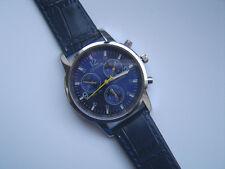 SALE  Very Smart Blue Faced Geneva Quartz Watch Blue  Strap  SALE