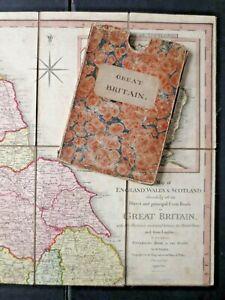 Antique 1800 W. Faden Map Great Britain England cf Paterson Roads pre Railway