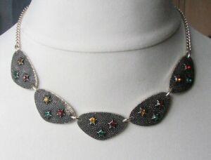 Vintage 1950s / 60s Glass Stars Necklace