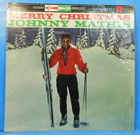 JOHNNY MATHIS MERRY CHRISTMAS LP 1958 RE 72 SHRINK GREAT CONDITION! VG++/VG++!!B