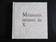 JEAN GRENIER MÉMOIRES INTIMES DE X. éd.Originale Robert Morel 1971 Dreux philo