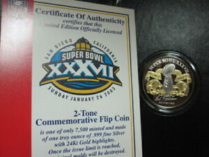 SUPER BOWL 37 GAME COIN-TAMPA BAY BUCCANEERS WIN-1 OZ SILVER-2 TONE