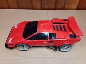 TYCO Taiyo Lamborghini Countach Twin Turbo 9.6V RED Version.   No Remote