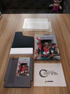 Contra First Edition NES 1987 CIB Konami black seal NICE see photos