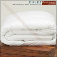 Luxury 100% Pure Mulberry Silk Filled Duvet Quilt Size Super King Bed All Tog