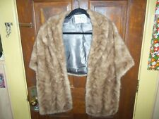 Brown Mink Fur Stole Shawl Jacket Coat Cape Wrap Don Sophisticates Nice LOOK!