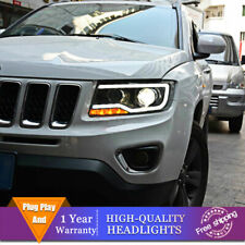 For Jeep Compass Headlights Double Lens Beam Projector HID LED DRL 2011-2017