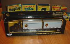 1/87 Daron UPS Semi Truck and Duel Trailers New In Package Diecast Toy Vehicle