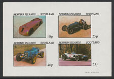 GB Locals - Bernera 3559 - 1981  EARLY RACIN G CARS imperf sheetlet of 4 u/m