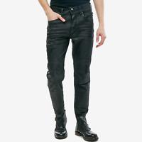 Diesel Herren Slim Fit Stretch Jeans Hose - Schwarz beschichtet - Blanck 0671E