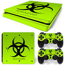 Sony PS4 Playstation 4 Slim Skin Aufkleber Schutzfolie Set - Biohazard Motiv