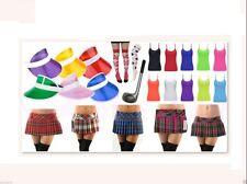 LADIES WOMENS GOLF MINI TARTAN SKIRT CLUB VISOR HAT PUB SOCKS FANCY DRESS PARTY