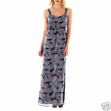 I Heart Ronson Smocked Maxi Dress for Women Size M, L Floral Msrp $66 New