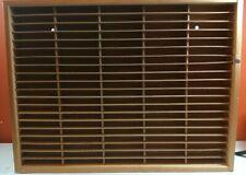 Napa Valley Box Wood 100 Cassette Tape Storage Holder Rack Organizer
