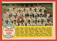 1958 Topps #327 Chicago Cubs Team EX/EX+ CREASE Ernie Banks FREE SHIPPING
