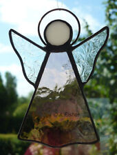 Stained Glass Angel - Handmade - Suncatcher / Window Hanging - Dusky Pink NEW