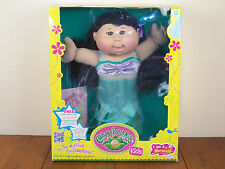 """Cabbage Patch Kids 14"""" Asian Girl Mermaid Plush Fish Doll Brown Eyes *BRAND NEW*"""