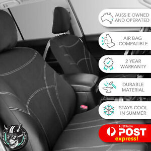 HOLDEN COLORADO (RC) DUAL CAB 2008 -2012 CUSTOM FRONT CAR SEAT COVERS NEOPRENE